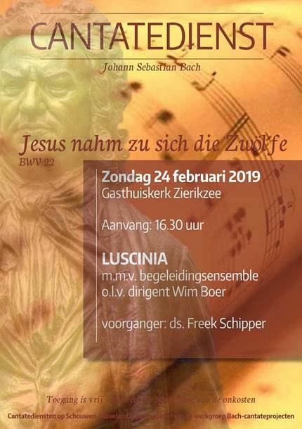 Cantatedienst 24 februari 2019